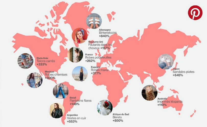 pinterest most searched fashion terms around the world