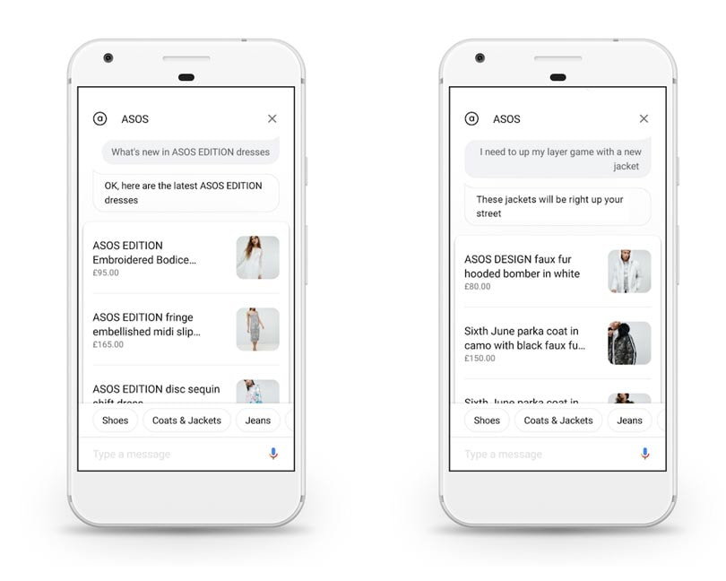 Asos customers can now shop via Google Assistant
