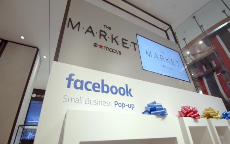 Facebook opens pop-up stores at Macy's