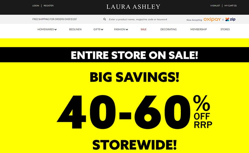Laura Ashley Australia: three years, two times into administration