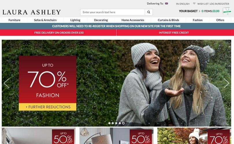Laura Ashley looking to boost online experience