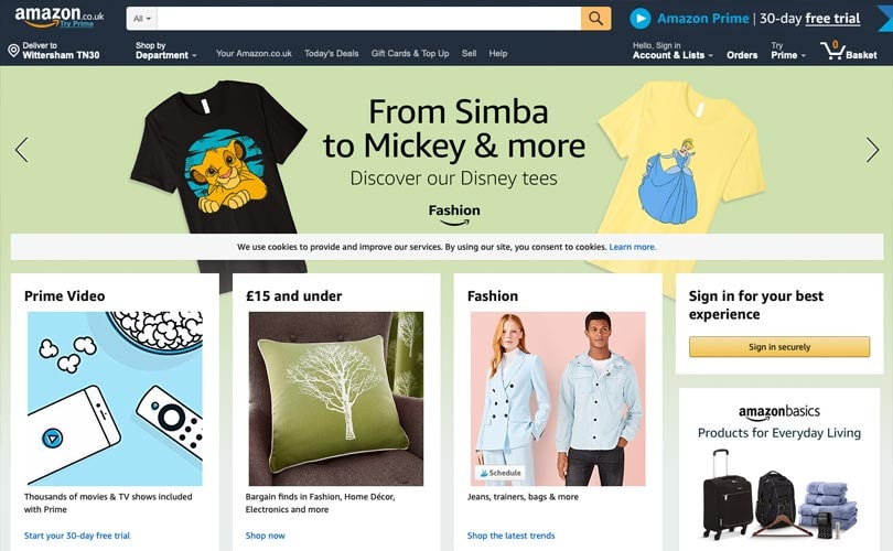 Almost nine in ten Brits shop online at Amazon