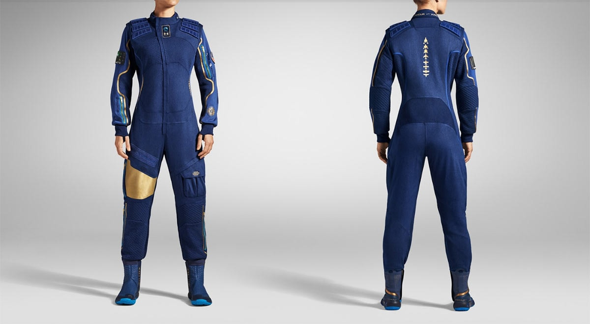 Under Armour unveils spacesuit for Virgin Galactic
