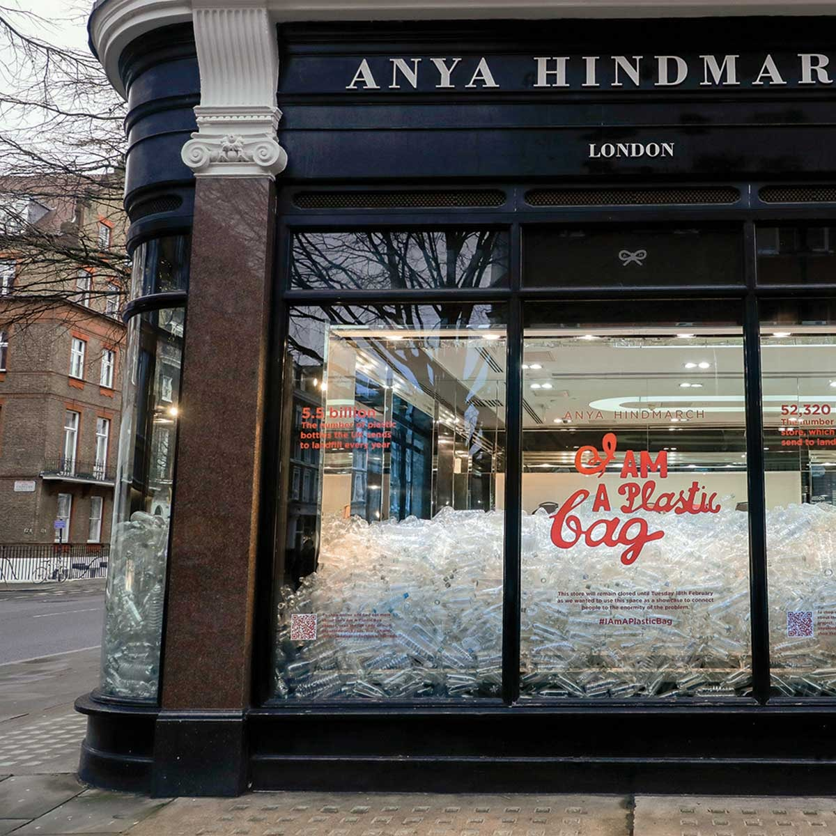 Anya Hindmarch launches 'I Am A Plastic Bag' during LFW
