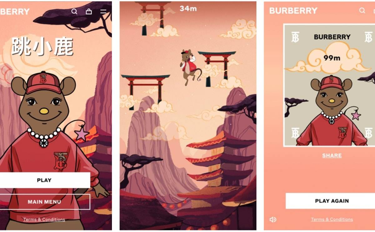 Burberry launches online game to celebrate Lunar New Year