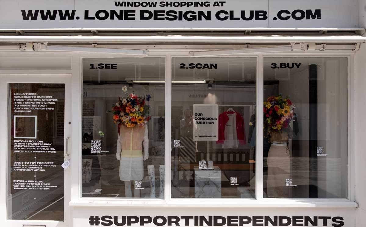 Lone Design Club launches shoppable window